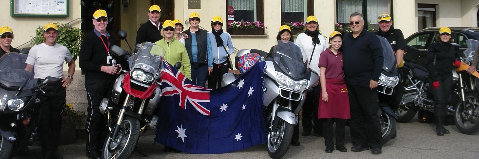 Motorradfahrer im Hotel Haus Schons in Mettlach